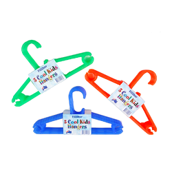 Plastic clothing hangers
